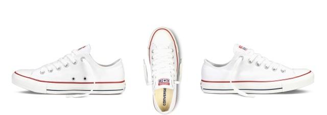 converse allstars chucks white short flat