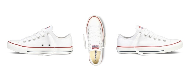 converse allstars chucks white short flat