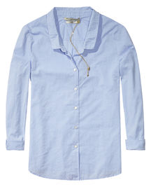 maison scotch shirt blues blouse blue hellblau lichtblauw