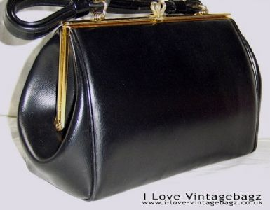vintage black bag gold hardware