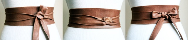 brown waist belt etsy claudia schiffer copy