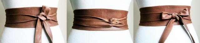 brown waist belt etsy claudia schiffer copy