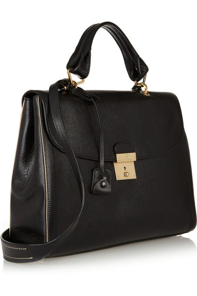 leather tote bag shoulder bag claudia schiffer marc jacobs