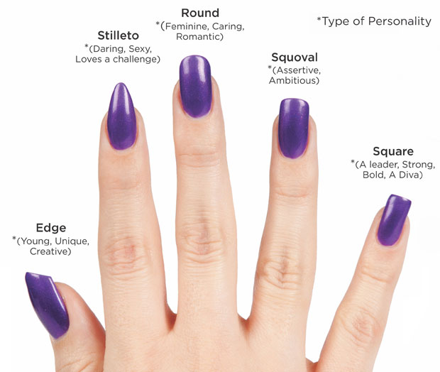 nail shape 5 different personality