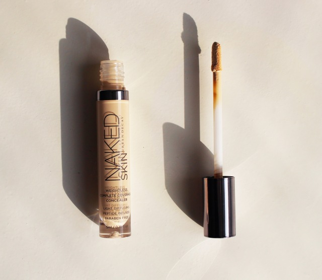 Urban Decay naked weightless complete coverage concealer fair neutral swatch
