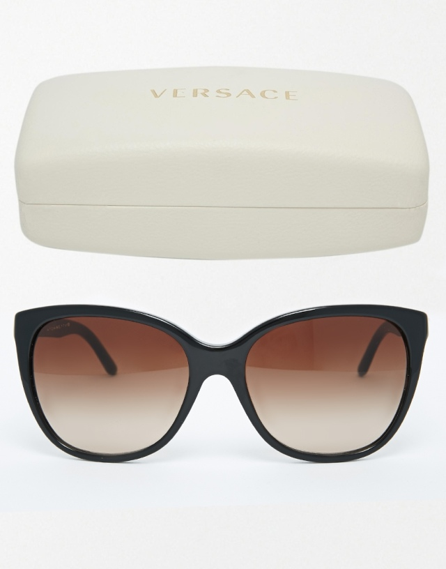 versace sunglasses brown black claudia schiffer
