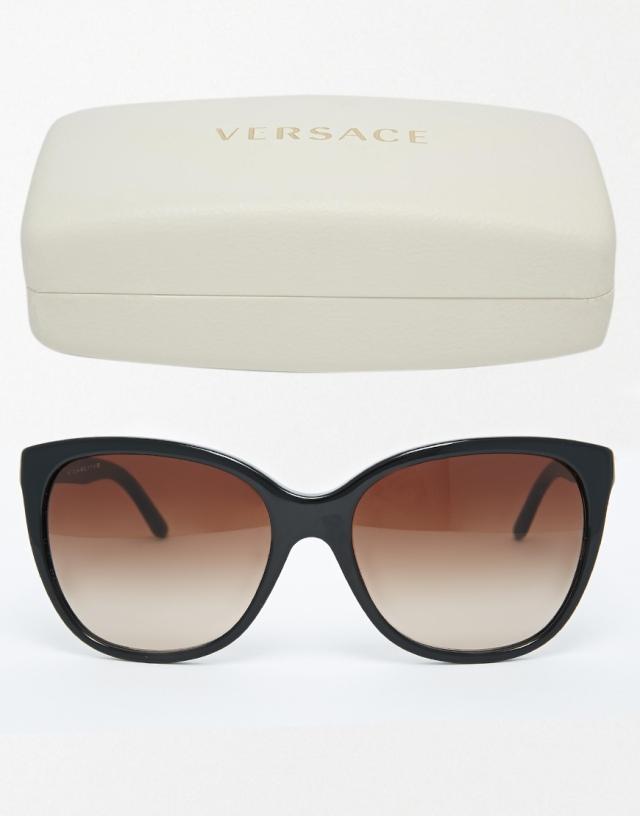 versace sunglasses brown black claudia schiffer