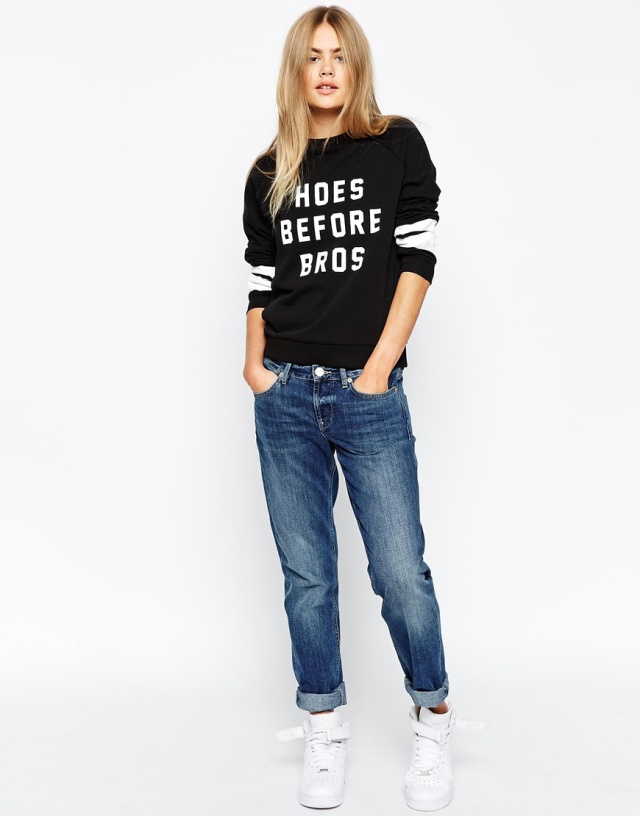 hoes before bros sweater asos -2