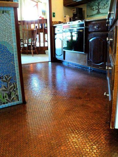 Penny Covered Floor Diy Wearingblack