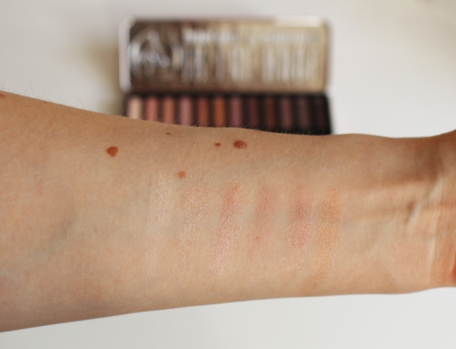 w7 in the nude eyeshadow palette swatch