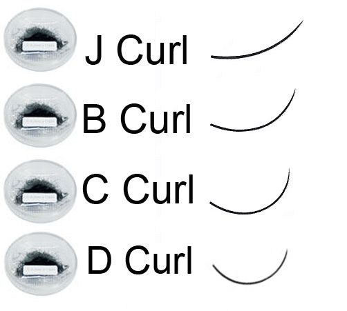 lash extensions curls different types