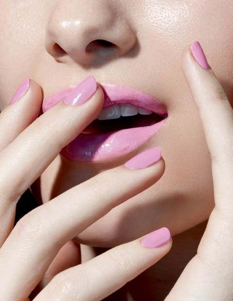 pastel lips pink rosy