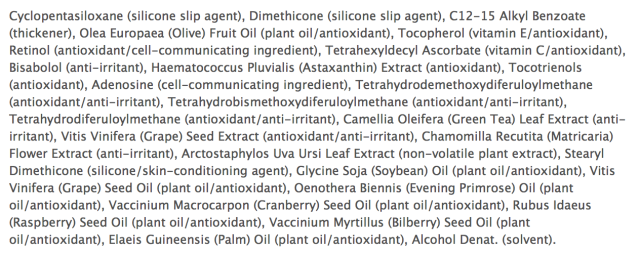 paula's choice skin recovery serum ingredients