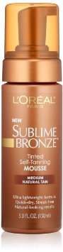 loreal sublime bronze tanning mousse