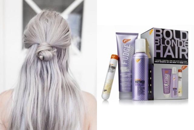 violet blonde hair
