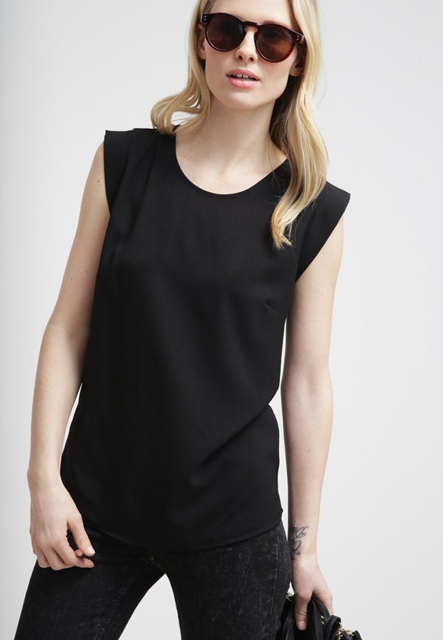 French connection polly plains top black